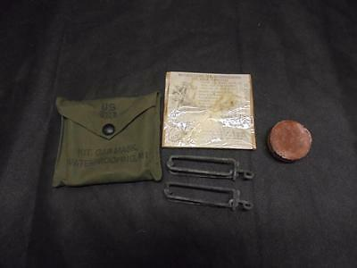 c.WW2 US Military Army M1 Gas Mask Waterproofing Kit - unissued