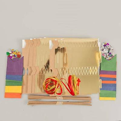 20 x Make Your Own Christmas Cracker Kit with Gems, Ribbons and Hats
