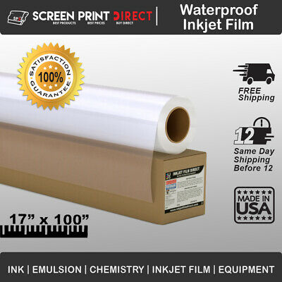"5 MIL - Waterproof Inkjet Film Transparency 17"" X 100' 1-Roll"