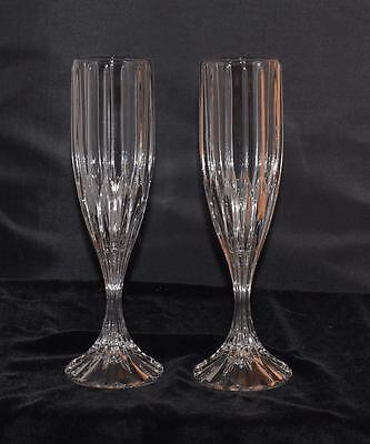 "Pair of Mikasa Park Lane Champagne Flutes - 8.75""H - Mint - Unmarked"
