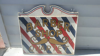 Antique Barber Shop Sign,Hand Made,Vintage,Rustic,Double,Advertising,Distressed