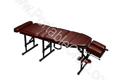 Portable Chiropractic Table with Drops - Burgundy
