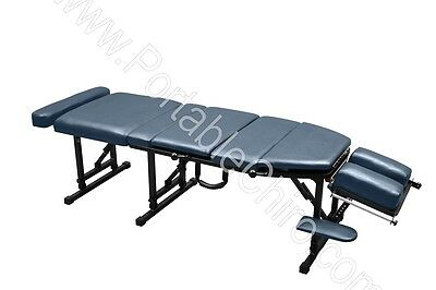 Portable Chiropractic Table with Drops - Seamist (Blue/Gray)
