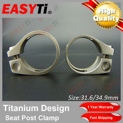 New Design! EasyTi  31.6/34.9mm Titanium Seat Post Clamp For MTB /BMX/Road Bike
