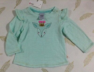 Target Baby Girls Long Sleeve Top Size 3-6 Months 00 New