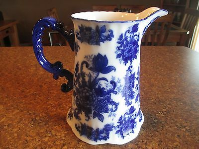 Vintage Blue and White Flower Pattern Porcelin Pitcher, by CB