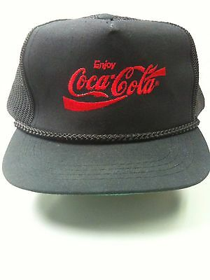 Rare Vintage ENJOY COCA-COLA HAT/CAP New Rare Version with Embroidered Red Logo