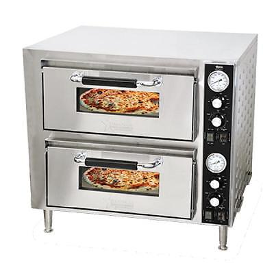 Commercial Kitchen Countertop Double Deck Quartz Pizza Oven