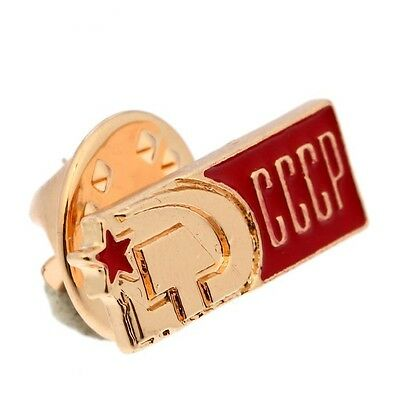 """BADGE metal Icon """"USSR"""", hammer and sickle Soviet UdSSR Значок СССР pin Russia"""