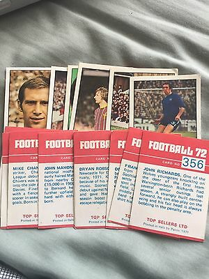 Panini Football 72 Cards - choose from selection - complete your album - VGC