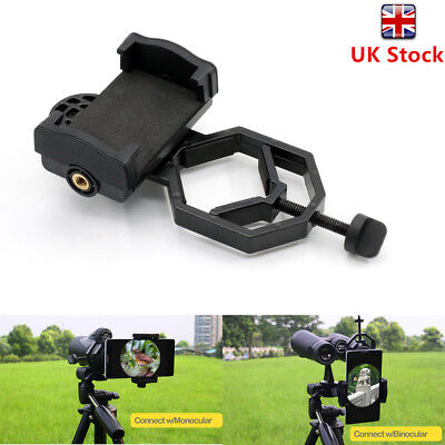Universal Cell Phone Telescope Adapter Holder Mount Bracket Spotting Scope hhbb
