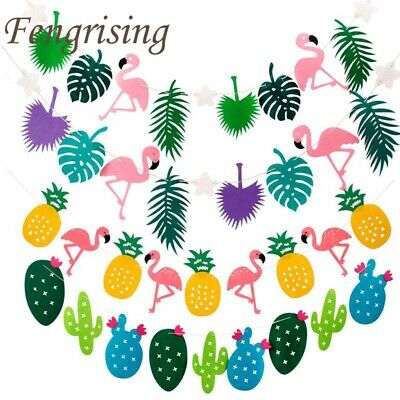 Flamingo Pineapple Summer Party Leaves Garland Bunting Banner Home Birthday Dec