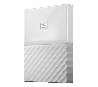 WD My Passport Portable External Hard Drive 2TB White Automatic Backup