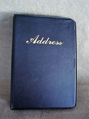 Address Telephone Directory Book  Black Vinyl Refillable Binder