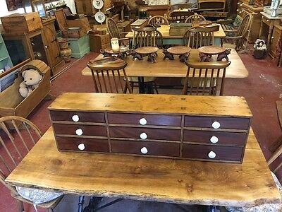 Antique table top campaing chest of drawers