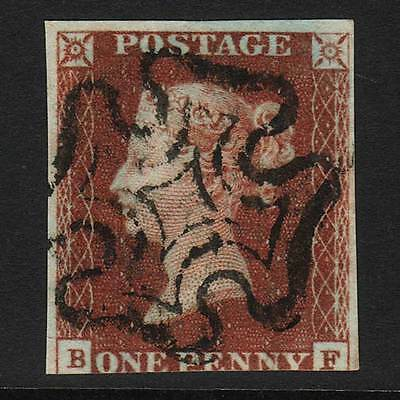 T36 GB QV 1841 1d RED-BROWN PENNY BLACK PLATE 11 (SG7) 'BF' GU
