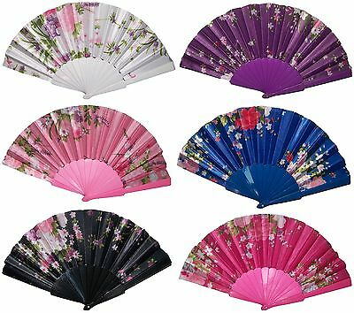 Spanish Party Dance Hand Fans Flowers Wholesale Prices  (HFan2**)