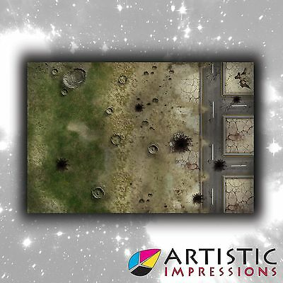 Vinyl 6x4' Outskirts Gaming Mat - Ideal for Warhammer
