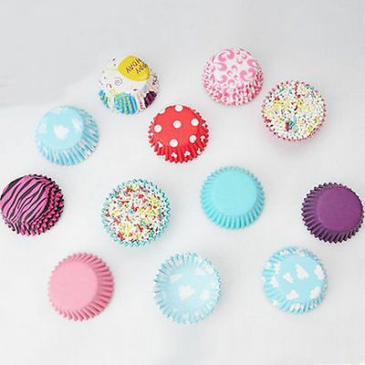 Cute Colorful Muffin 100PCS Cup Mini Party Wrapper Paper Baking Cake Cupcake