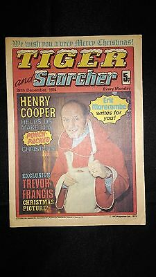 Tiger And Scorcher 28th December 1974 Vintage Christmas Comic Issue Near Mint