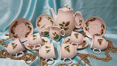 Gorgeous Coffee set 15/6 pieces Czechoslovakia Bohemia Porcelain very rare!