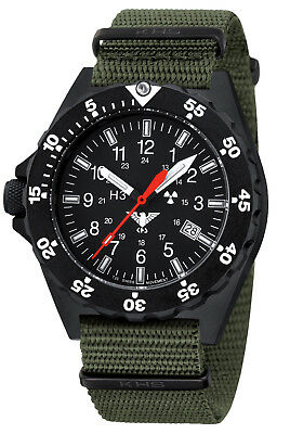 KHS Tactical Swiss Military Watches Shooter H3 lights Date Army Strap KHS.SH.NO