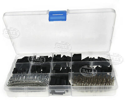 "620pcs 0.1"" Dupont Wire Jumper Pin Connector Header Kit and M/F Crimp Pins"