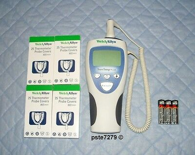 Welch Allyn SureTemp Plus 692 Thermometer Oral With Probe Covers And Batteries