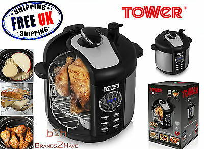 Tower 6L Non Stick Electric Multi Function Digital Smoker Pressure Cooker