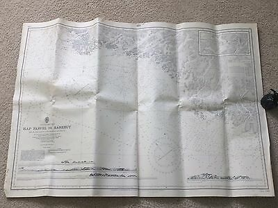 "1954 Greenland West Coast Sailing Map - KAP FARVEL TO SANERUT - 41"" x 28"""