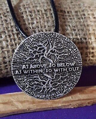 """Hermes Occult 'AS ABOVE SO BELOW AS WITHIN SO WITHOUT' Esoteric Amulet 20""""    d2"""