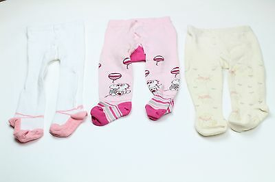 Size 6-9 Months 3 Pairs Of Very Cute Tights For Baby Girl