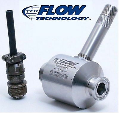 """Flow Technology  SA10T1XW-LEGH4 1.25 to 12.50 GPM 3/4"""" Tri-clamp sanitized 5V DC"""