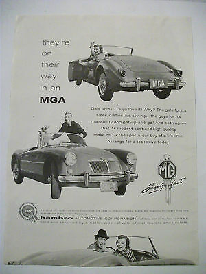 1959 They're On Their Way In An Mga Usa Magazine Fullpage Advertisement