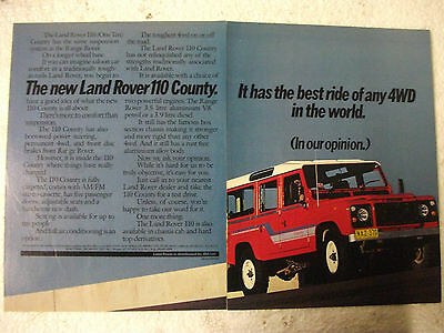 1984 Land Rover 110 County Australian Magazine 2 Page Colour Advertisement