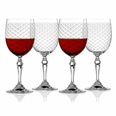 Rona - Helmsley Engraved Wine Glass 350ml Set of 4 (Made in Europe)