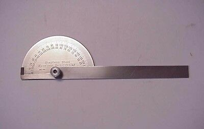 """Stainless Steel Excellent Semicircular 6"""" Protractor"""