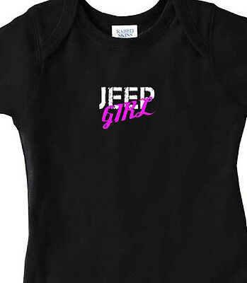 Jeep Girl Baby Infant Bodysuit Newborn, 6 Mo, 12 Mo, 18 Mo