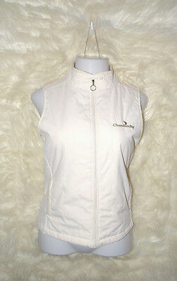 Womens Large Antiqua Ivory Merit Athletic Full Zip Golf Vest New with Tag