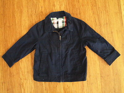 Janie Jack Boy Blue Navy Zip Up Jacket Size 2T-3
