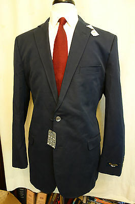 NWOT Brooks Brothers Fitzgerald Navy Blue Cotton Blazer 46L MSRP $448