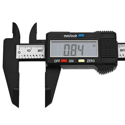 "150mm 6"" ""LCD Digital Caliper Carbon Fiber Vernier With large LCD display black"