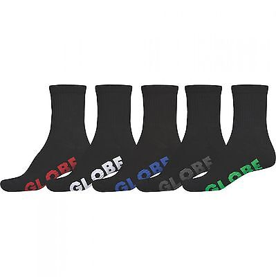 Globe - Stealth Crew Boys Socks Black 5 Pack