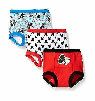 (3 PACK) ASSORTED Disney Mickey Mouse Training Pant Underwear FOR BOYS - COTTON