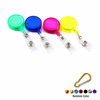 5x Retractable ID Badge Lanyard Name Tag Key Card Holder Belt Clip +Buckle