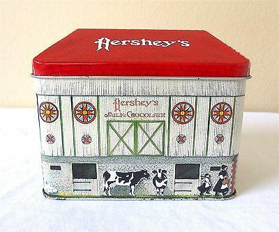 Hershey's Amish Barn Collectible Tin Box Empty Candy Container ~ Made in England