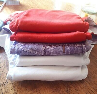 5X pre-loved modern cloth nappies