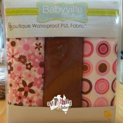 Babyville Boutique Flowers/Retro - Waterproof Nappy Fabric