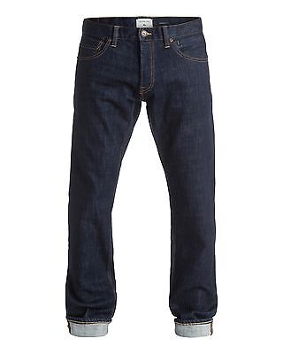 NEW QUIKSILVER™  Mens Revolver Rinse Straight Fit Denim Jean Denim Jeans Trouser