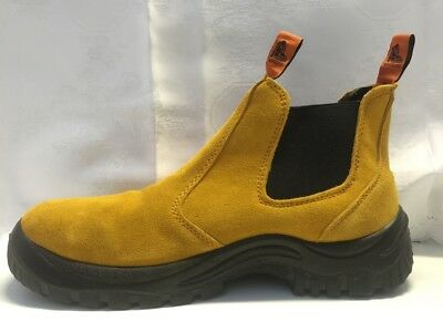 WORK BOOTS REAL SUEDE LEATHER STEEL CAP WORK BOOTS POPULARslip on  CHEAP SAFETY